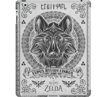 Legend of Zelda Twilight Princess Wolf Link Line Artly  iPad Case/Skin