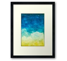 cloud and sky Framed Print