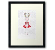 Rudolphina The Reindeer Princess Framed Print