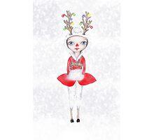 Rudolphina The Reindeer Princess Photographic Print