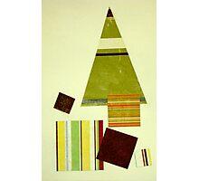 Striped Christmas tree Photographic Print