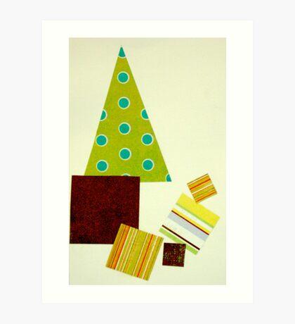 Polka dot Christmas tree Art Print