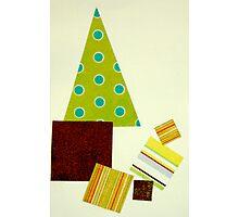 Polka dot Christmas tree Photographic Print