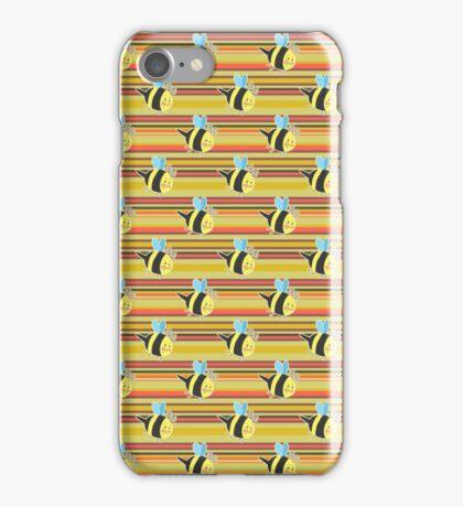 Striped Bumblebee Pattern iPhone Case/Skin