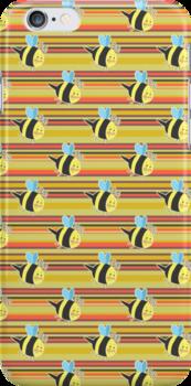 Striped Bumblebee Pattern by SaradaBoru