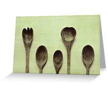 Spoons Greeting Card