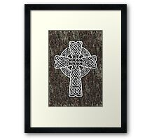 Celtic Cross in white Framed Print
