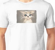 Pensive Kitten staring into space Unisex T-Shirt