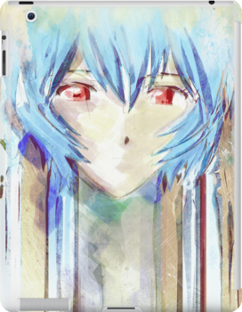Ayanami Rei Evangelion Anime Tra Digital Painting  by barrettbiggers