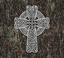Celtic Cross in white by chromedreaming