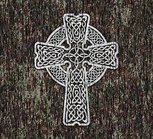 Celtic Cross in white by chromedreaming