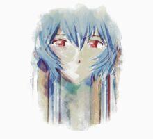 Ayanami Rei Evangelion Anime Tra Digital Painting  T-Shirt