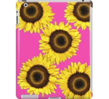 Ipad case - Sunflowers Shocking Pink iPad Case/Skin