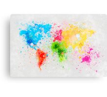 world map painting Metal Print