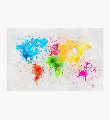 world map painting Photographic Print