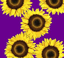 Ipad case - Sunflowers Purple Haze by Mark Podger