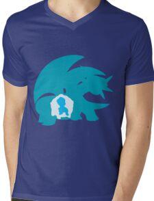 PKMN Silhouette - Bagon Family Mens V-Neck T-Shirt