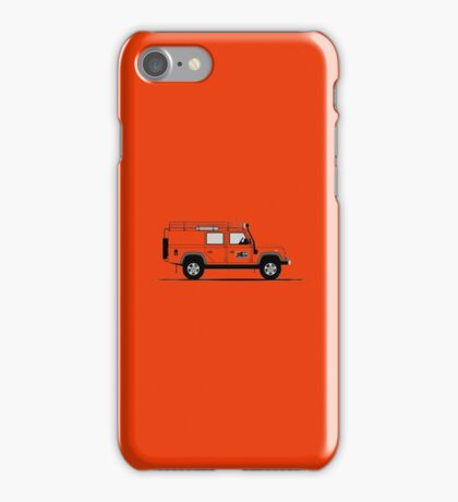 A Graphical Interpretation of the Defender 110 Utility Station Wagon G4 Challenge iPhone Case/Skin