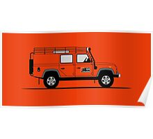 Land Rover Defender 110 Utility Station Wagon G4 Challenge Poster