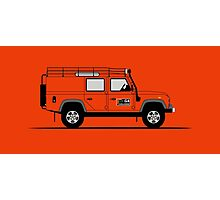 Land Rover Defender 110 Utility Station Wagen G4 Challenge Photographic Print