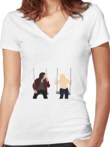 swings Women's Fitted V-Neck T-Shirt