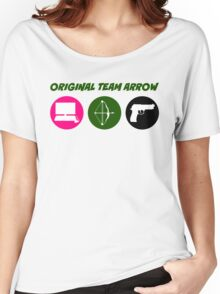 Original Team Arrow - Colorful Symbols - Weapons Women's Relaxed Fit T-Shirt