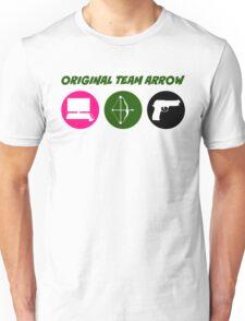 Original Team Arrow - Colorful Symbols - Weapons Unisex T-Shirt