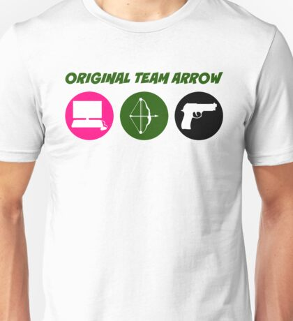 Original Team Arrow - Colorful Symbols - Weapons Unisex T-Shirt
