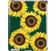 Ipad case - Sunflowers Dark Green iPad Case/Skin