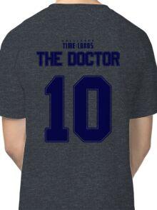 Team Tennant (The Doctor Team Jersey #10) BLUE Classic T-Shirt