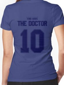 Team Tennant (The Doctor Team Jersey #10) BLUE Women's Fitted V-Neck T-Shirt