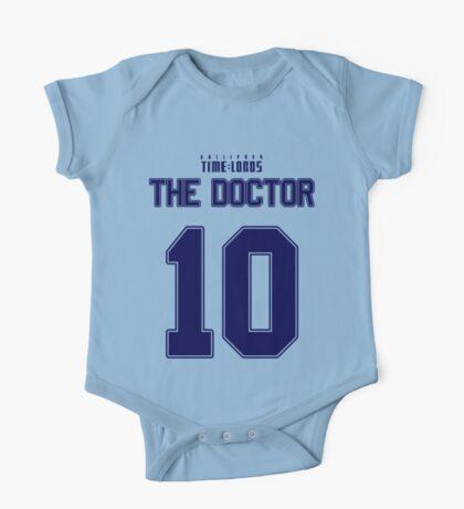 Team Tennant (The Doctor Team Jersey #10) BLUE One Piece - Short Sleeve
