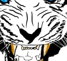 Vector Blue-Eyed Tiger  Sticker