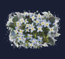 Bluet Flowers Watercolor Art One Piece - Long Sleeve