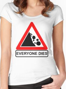 Rocks Fall Everyone Dies Women's Fitted Scoop T-Shirt