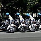 US Capitol Police Motorcycles by Barrie Woodward