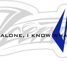 Kimi Raikkonen - I Know What I'm Doing! - Iceman - Finnish Colours Sticker