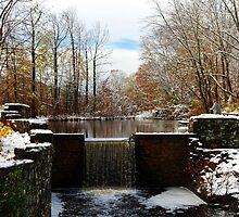 Davidson's Mill Pond with just a Dusting by Debra Fedchin