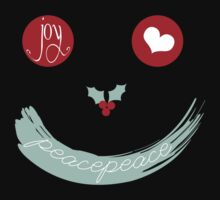 Christmas Peace Love Joy Holiday Smiley Kids Clothes