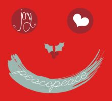 Christmas Peace Love Joy Holiday Smiley Baby Tee