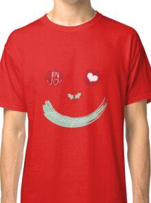 Christmas Peace Love Joy Holiday Smiley Classic T-Shirt