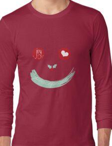 Christmas Peace Love Joy Holiday Smiley Long Sleeve T-Shirt
