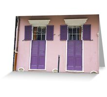 New Orleans Windows and Doors XII Greeting Card