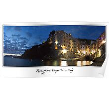 From Italy with love - Riomaggiore, Cinque Terre, Italy Poster