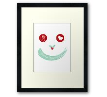 Christmas Peace Love Joy Holiday Smiley Framed Print