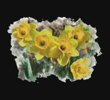 Spring Daffodils Watercolor Art Kids Clothes