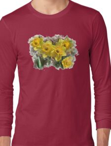 Daffodil Watercolor Long Sleeve T-Shirt