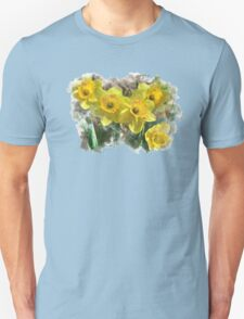 Spring Daffodils Watercolor Art Unisex T-Shirt