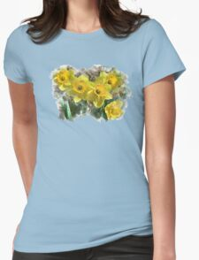 Spring Daffodils Watercolor Art T-Shirt