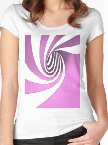 Purple Swirl Women's Fitted Scoop T-Shirt